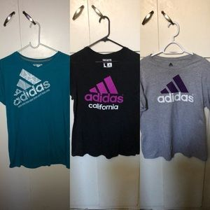 Adidas women's tees bundle USED